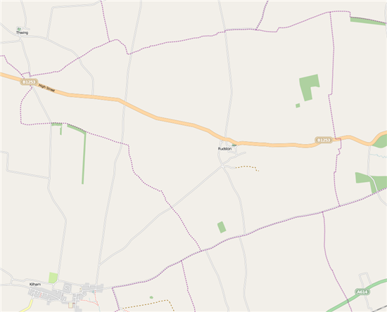 Map of Rudston Parish Boundary